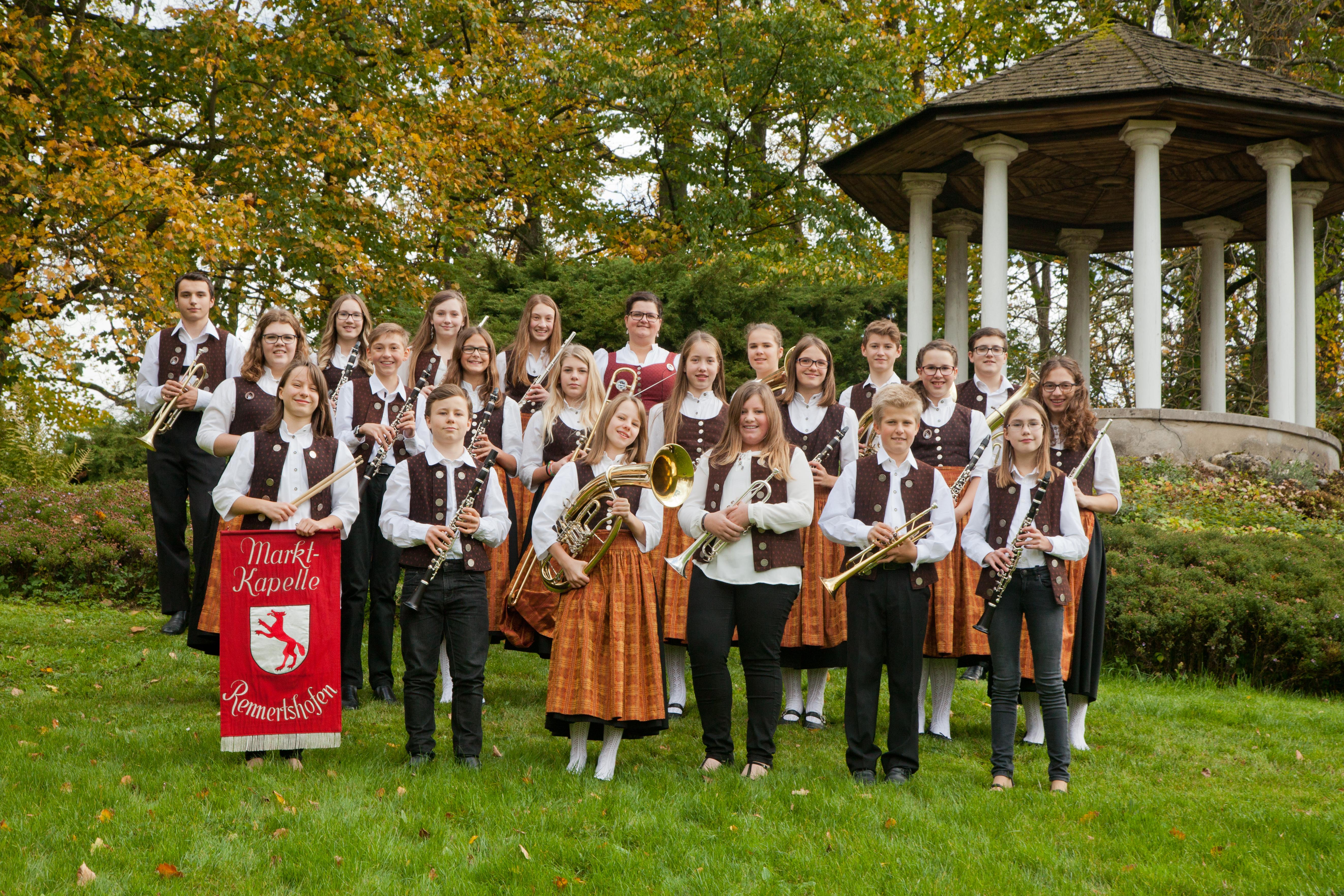 Gruppenbild der Jugendkapelle
