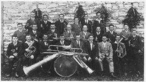 Gruppenbild der Marktkapelle im Jahr 1921